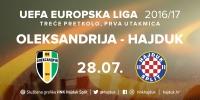 Hajduk protiv Oleksandrije u 3. pretkolu Europske lige