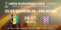 UEFA odredila suce za prvu utakmicu s Oleksandrijom