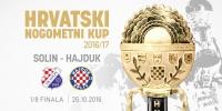 Hajduk protiv Solina u osmini finala Kupa