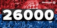 Hajduk dosegao brojku od 26.000 članova!