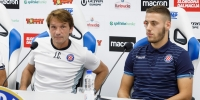 Coach Carrillo and player Vlasic pre-match press conference
