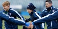 Pre-match training session ahead of Rijeka