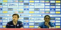 Konferencija za medije trenera Kopića i Hamze Barryja na stadionu Arena Nationala