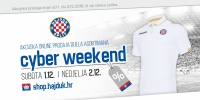 Cyber weekend on Hajduk webshop!