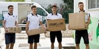 Hajdukovci posjetili djecu iz Maestrala uoči početka nove školske godine