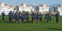Sunday training sessions in Belek