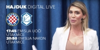 Hajduk Digital Live s Mirtom Šurjak u utorak od 17:45 sati