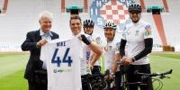 Predsjednik Brbić na Poljudu dočekao Mikea Sarana nakon avanture duge 1.200 kilometara...