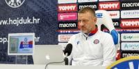 Trener Hari Vukas uoči utakmice Hajduk - Šibenik