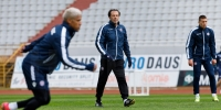 Trener Tramezzani i Mario Vušković uoči utakmice sa Slaven Belupom