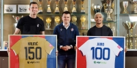 Kaliniću i Jairu uručeni posebni dresovi u povodu 150. i stotog službenog nastupa za Hajduk