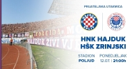 Prodaja ulaznica za utakmicu Hajduk - Zrinjski