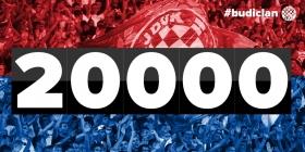 Hajduk has already reached 20 000 members for 2017!