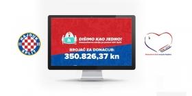 U drugom dijelu Hajdukove humanitarne akcije prikupljeno preko 450.000 kuna