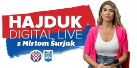 Hajduk Digital Live s Mirtom Šurjak u nedjelju od 17:15 sati