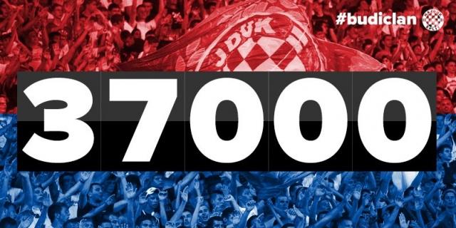Hajduk ima 37.000 članova u 2016. godini