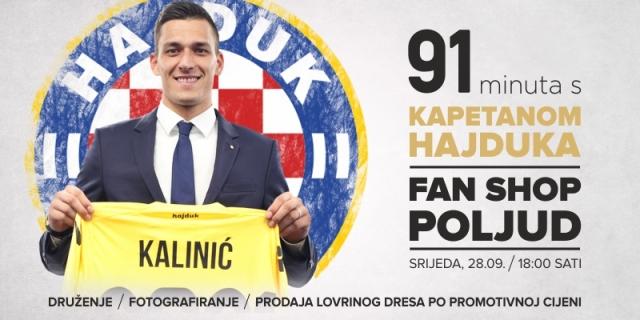 Lovre Vas poziva na druženje u Hajdukov Fan shop!