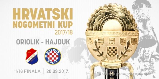 Hajduk protiv Oriolika u 1/16 finala Kupa