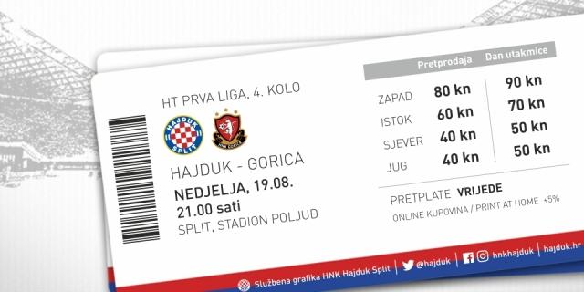 Tickets for Hajduk - Gorica on sale
