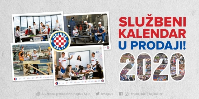 Hajduk is every day: new official 2020 Hajduk calendar!