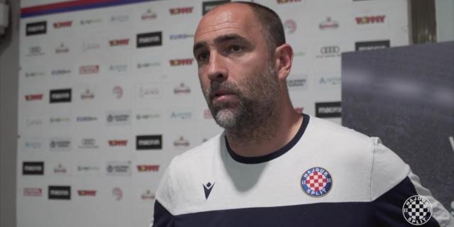 Trener Tudor i Stipe Radić nakon trening utakmice na Poljudu