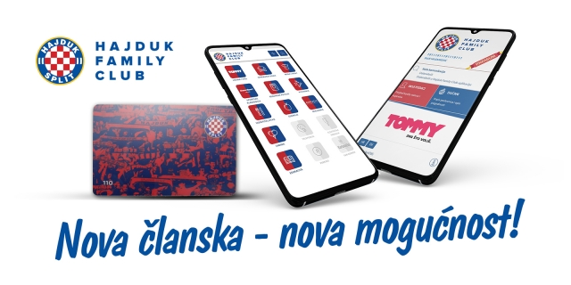 Nova mogućnost: Članska iskaznica kao loyalty kartica Hajduk Family Club
