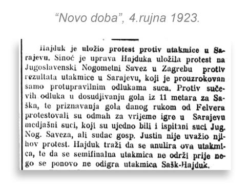 Hajduk - prva prvenstvena utakmica