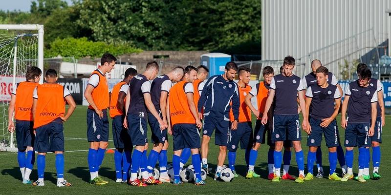 Hajdukovci trenirali na Oriel Parku