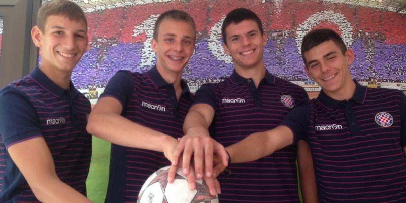 Hajduk potpisao stipendijske ugovore s četvoricom igrača iz NK Adriatic