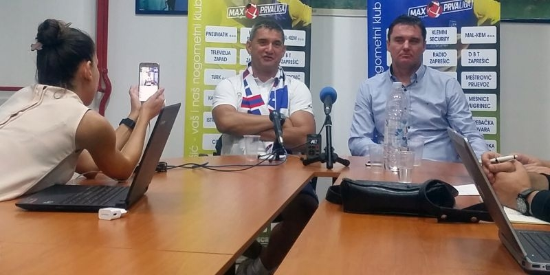 Konferencija za medije trenera Pušnika nakon remija u Zaprešiću