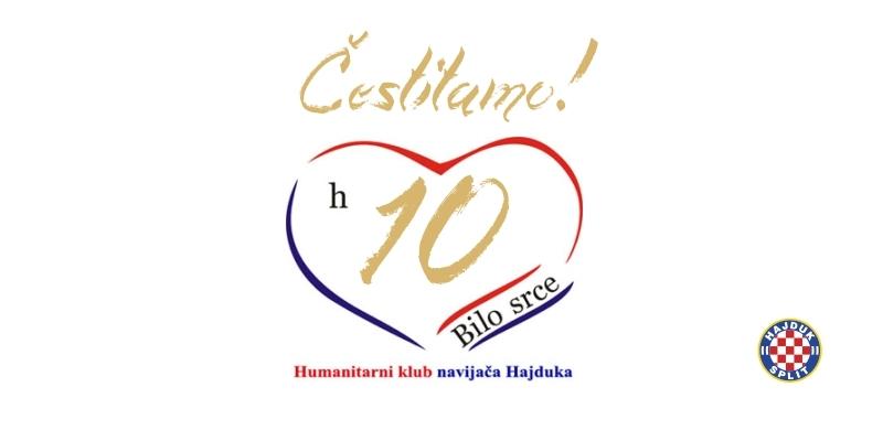 HNK Hajduk čestita 10. rođendan HKNH Bilo srce