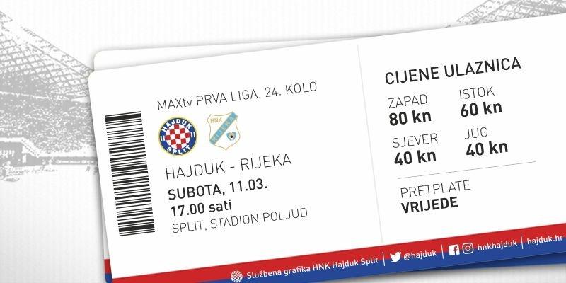 Hajduk vs Rijeka tickets on sale!