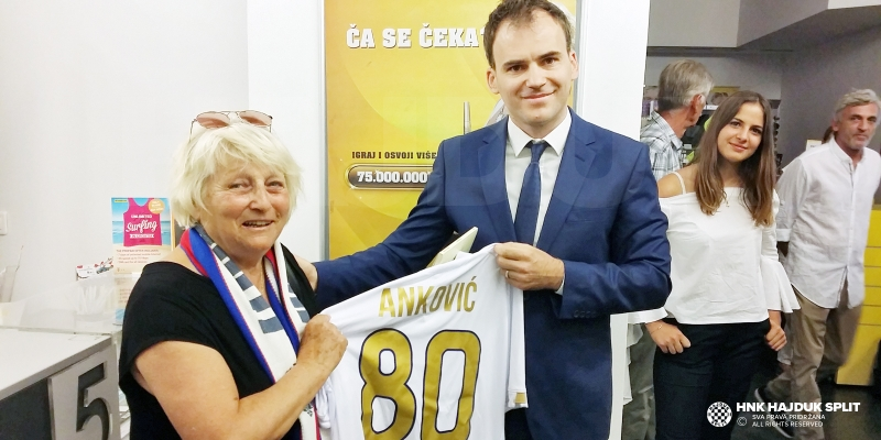 Andrija Anković u povodu 80. rođendana dobio svoju prigodnu dopisnicu i žig