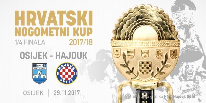 Hajduk protiv Osijeka u četvrtfinalu Kupa