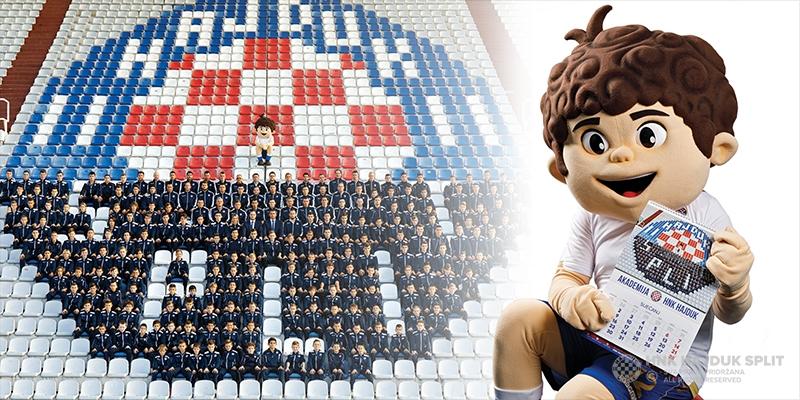 U prodaji službeni kalendar Akademije HNK Hajduk za 2018. godinu