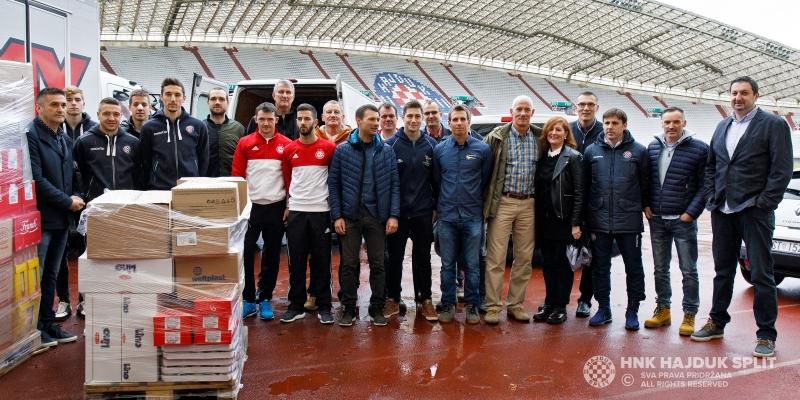 Hajdukovci, splitski sportaši i novinari ponovno pokazali veliko srce za splitske beskućnike