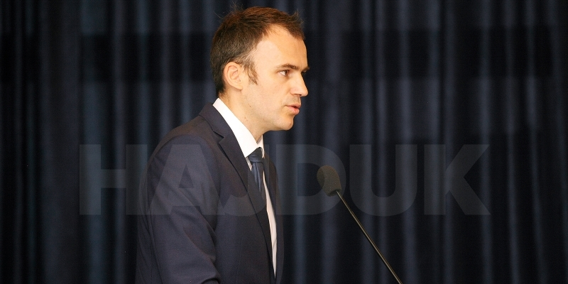 Govor predsjednika NO Marasovića s izborne Skupštine HNS-a