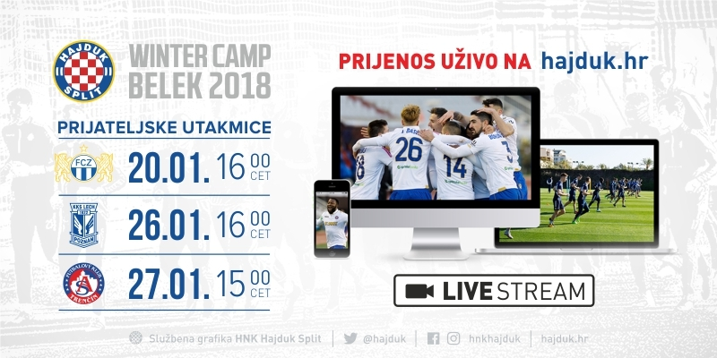 Watch international friendlies LIVE STREAMING on hajduk.hr