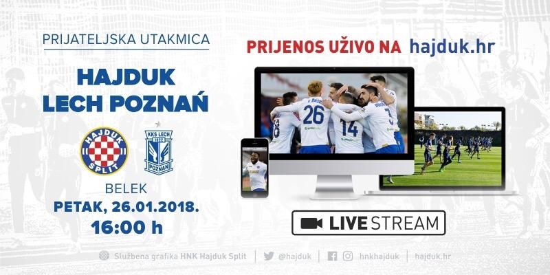 UŽIVO: Hajduk - Lech Poznań