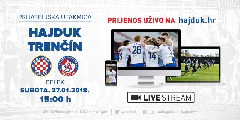 UŽIVO: Hajduk - Trenčin