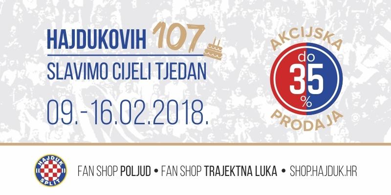 Hajdukovih 107 slavimo cijeli tjedan!