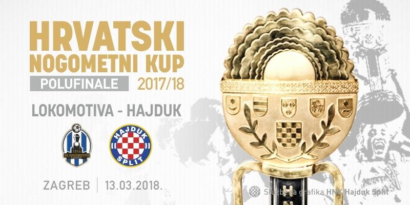 Novi termin odigravanja utakmice polufinala Kupa Lokomotiva - Hajduk
