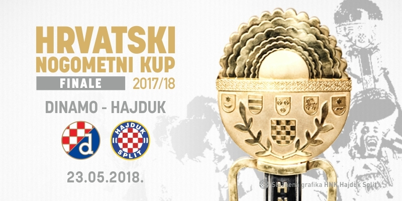 Hajduk protiv Dinama u finalu Hrvatskog nogometnog kupa