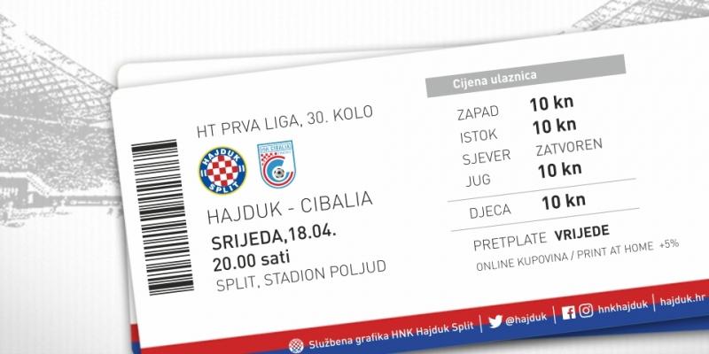 Jedinstvena cijena za sve tribine: Započela prodaja ulaznica za utakmicu Hajduk - Cibalia