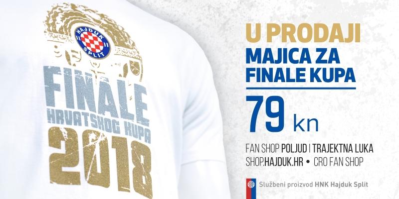 U prodaji prigodne majice za utakmicu finala Kupa!