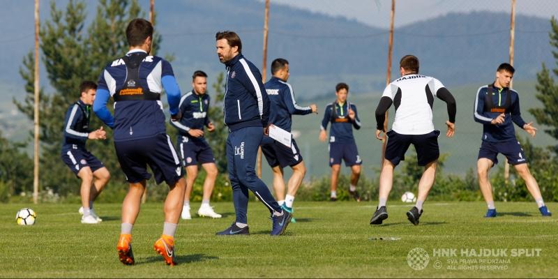 Hajdukovci odradili prvi dan priprema na Kupresu