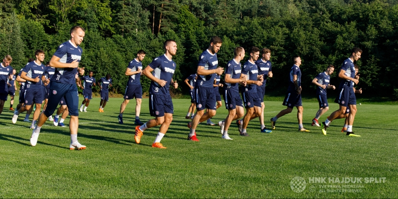 Hajduk's first training session in Slovenia