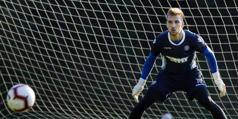 New goalkeeper completed his first training session as a Hajduk player
