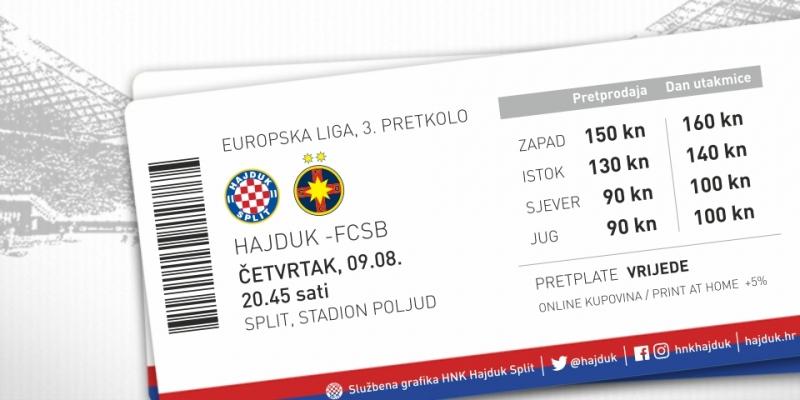 Od ponedjeljka u slobodnoj prodaji ulaznice za utakmicu Hajduk - FCSB