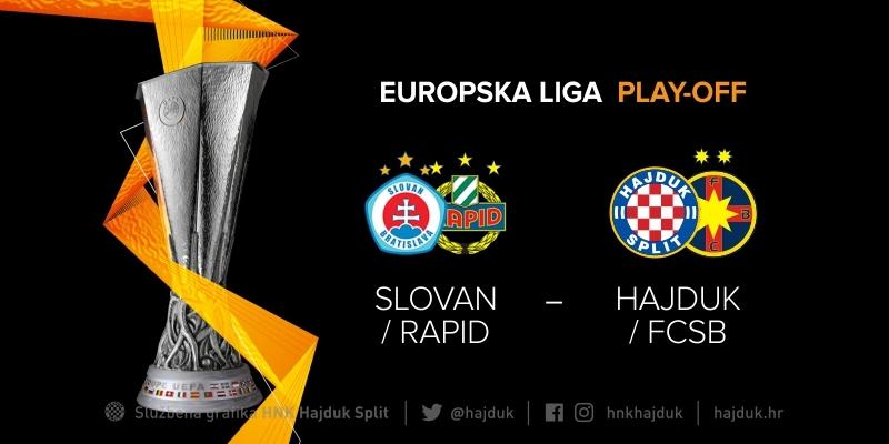 Pobjednik dvoboja Hajduk - FCSB u play-offu Europske lige ide na pobjednika dvoboja Slovan - Rapid